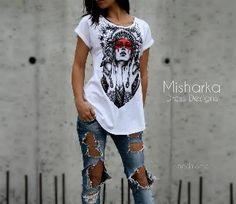 Ръчно рисувана тениска MISHARKA