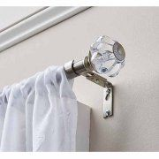 "Better Homes and Gardens Clear Knob 5/8"" Dia 28""-48"" Curtain Rod Set, Nickel"