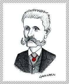 Francesco Brioschi, 1824-1897, uomo politico e illustre matematico. Fondò e poi diresse l'Istituto Tecnico Superiore in seguito ribattezzato Politecnico di Milano, il primo d'Italia, tenendo per molti anni la cattedra di idraulica. Partecipò alle Cinque giornate di Milano. #AlbumMilano