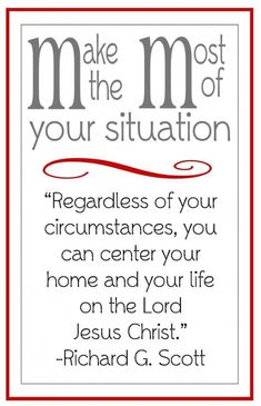 Christ Centered Home- handout for LDS young women lesson. Would go great with a lot of lessons, but very appropriate for the December lesson on building a Christ-centered home. Lds Quotes, Uplifting Quotes, Gospel Quotes, Funny Quotes, Spiritual Thoughts, Spiritual Quotes, Lds Spiritual Thought, Spiritual Wellness, Spiritual Growth