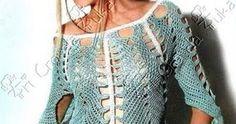 Um poncho com mangas ou uma blusa que lembra um poncho…sei lá!…