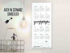 Wandkalender - Wandkalender für 2017 – Jahresplaner - ein Designerstück von unikatis bei DaWanda