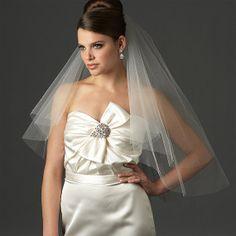 2 t Bridal couper bord voiles / robe de mariée par YourWeddingMall, $35.00
