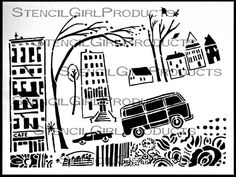 City Stories Stencil by Cathy Nichols for StencilGirl $14.00