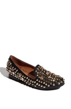 Jeffrey Campbell 'Elegant-St' Flat      Serious studs mix it up on an edgy flat with a neutral backdrop.          Slip-on style.          Synthetic upper/leather and synthetic lining/synthetic sole.          By Jeffrey Campbell; imported.          Women's Shoes.