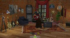 Decor: Guitar Player's Delight from Around The Sims 4 Maxis, Sims 4 Skills, Around The Sims 4, Cc Music, Sims 4 House Design, Free Sims, Sims 4 Cc Packs, Sims 4 Cc Furniture, Sims 4 Custom Content