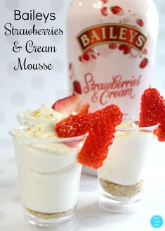 Baileys Strawberries and Cream Mousse