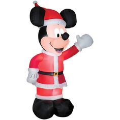 Inflatable Tall Airblown Mickey in Santa Suit Halloween Prop Christmas Decor Mickey Mouse Christmas, Disney Mickey Mouse, Minnie Mouse, Disney Christmas, Vintage Christmas, Christmas Gifts, Christmas Decorations, Christmas Stuff, Holiday Decor