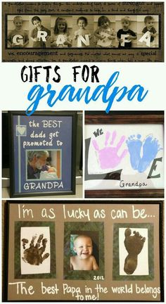 The cutest gifts for grandpa from the kids! Great ideas for father's day and grandparent's day! Here are a list of fun grandparents day gifts for kids to make! You will find DIY gifts just for grandma and grandpa as well. Grandparents Day Crafts, Fathers Day Crafts, Grandparent Gifts, Gifts For Father, Gifts For Kids, Homemade Fathers Day Gifts, Fathers Day Presents, Birthday Presents, Diy Father's Day Gifts Easy