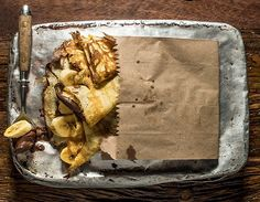Crepe de chocolate com banana.