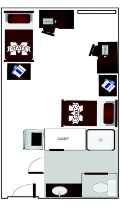 Mississippi State University Dorm Room Layout   Griffis Hall Part 90