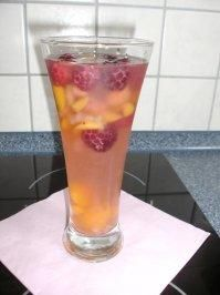 Himbeer-Pfirsich-Bowle - Rezept