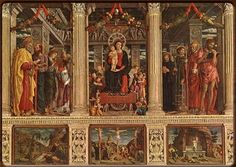 Mantegna was the leading figure in the fifteenth century in Northern Italy.  The San Zeno Altarpiece-https://www.google.com/blank.html