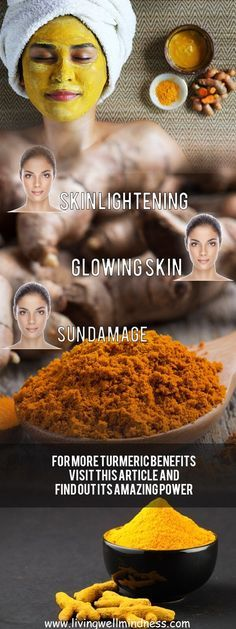 Gorgeous Skin with Turmeric Powder - Living Wellmindness