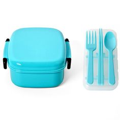 Bento Box And Cutlery Set Aqua now featured on Fab.