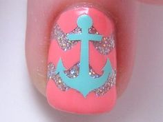 ANCHOR Fingernail Art Decal Stickers Nail Vinyls 25pk -- Click image for more details.