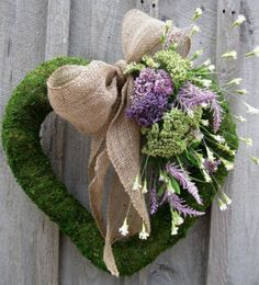Spring Moss Heart Wreath by lesley