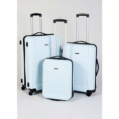 ABS Hardshell 4 Wheel Suitcase (RRP 50 70) ($71) ❤ liked on Polyvore featuring bags and luggage