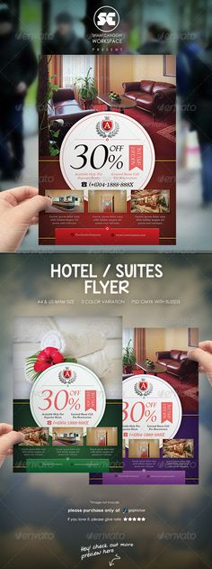 Hotel / Suites Flyer — Photoshop PSD #travel #private • Available here → https://graphicriver.net/item/hotel-suites-flyer/7671819?ref=pxcr