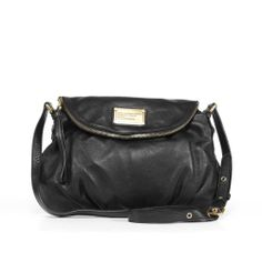 Wanttttttttttttt so bad. Marc by Marc Jacobs 'Natasha' Black Leather Crossbody Bag | Overstock.com