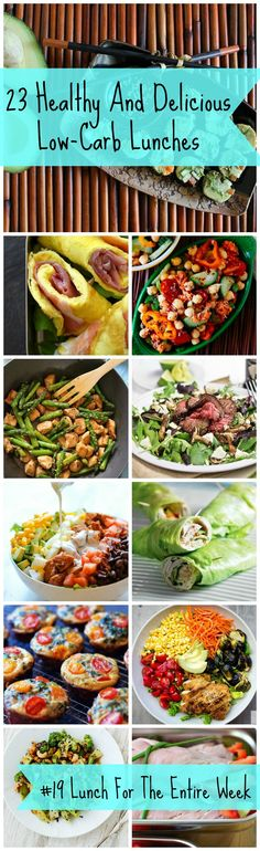 A list of simple and delicious recipes for low carb lunches. Recipe #19 will get you lunch for the entire week!
