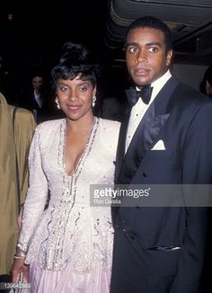 Actress Phylicia Rashad and sportscaster Ahmad Rashad attending 'Jackie Robinson Awards Dinner' on April 17 1989 at the Waldorf Hotel in New York City New York Get premium, high resolution news photos at Getty Images