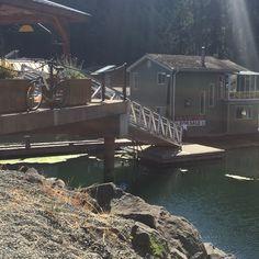 Floathouse at Maple Bay, near Duncan BC