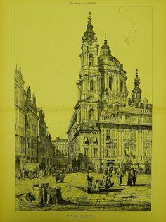 St. Nicholas Church in Prague, Czech Republic, 1893. Samuel Prout