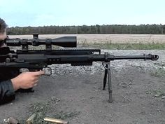 coffeeandspentbrass:  thestunningsurvivalist:  Is that a Barrett 95???I wanted the MRAD… but now…   No, it's not a Barrett. I'm pretty sure it's a Lynx GM-6.