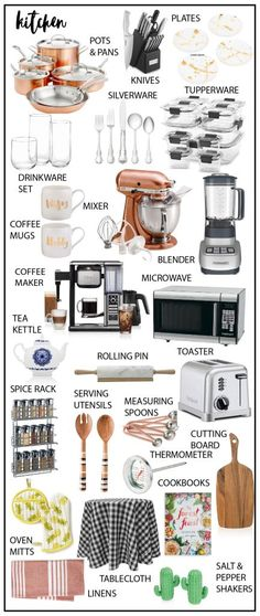 75 wedding registry ideas – The Internet's Maid of Honor - Germany Rezepte Serving Utensils, Kitchen Utensils, Kitchen Gadgets, Kitchen Tools, Kitchen Cabinets, Wedding Registry Checklist, Baby Registry, Amazon Registry Wedding, Bridal Shower Registry