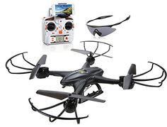 Holy Stone X400C FPV RC Quadcopter Drone with Wifi Camera Live Video One Key Return Function Headless Mode 2.4GHz 4 Channel 6 Axis Gyro RTF Left and Right Hand Mode Bundle with Goggles ⋆ skwaredeal.com