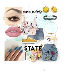 """""""State Fair #6"""" by missyterious ❤ liked on Polyvore featuring Topshop, Alexander Wang, New Look, Converse, Lime Crime, Humble Chic, Kate Spade, statefair and summerdate"""