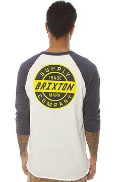 Brixton Tee Chambers II in White & Navy