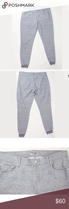 Mother The Trainer Jogger Pants Heathered Blue Color: Heathered Blue, City Girl in Training  Style: The Trainer, 1191-255 Jogger Pants  Condition: Pre-Owned Gently Worn No Flaws  Features: Authentic 61% Cotton, 31% Polyamide 5 Pocket Styling Logo Stitching on Back Pocket Has Stretch (waist does not stretch) Stretchy Elastic Cuffs Zipper Fly with Logo Button Closure  Measurements taken while garment was laying flat:  Waist inches-17 Rise inches-10 Inseam inches- 29.5 Leg Opening inches- 4…