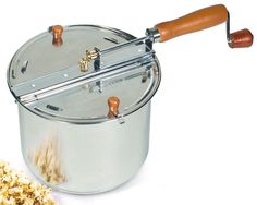 Amazon.com: Cook N Home 6.5 Quart Stainless Steel Popcorn Popper Stovetop: Kitchen & Dining