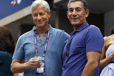 J.P. Morgan CEO James Dimon, left, and global banking head Carlos Hernandez want investment bankers...