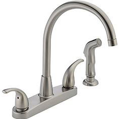 Kitchen Faucet Swivel Sink Faucet Single Handle Chrome Black Matte Mixer Tap xv