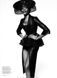 """Naomi Campbell stuns in """"Leave It to Diva"""" by Thomas Whiteside for Elle US February2013"""