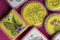 TUTORIAL: Rubber-stamped Springtime Cookie Tutorial by Julia M. Usher