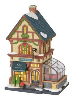 Department 56 Christmas in The City Village Stems and Vines Garden House Lit Building, Multicolor >>> Check out this great product. (This is an affiliate link) Department 56 Christmas Village, Christmas Village Houses, Christmas Villages, Garden House Lighting, Villas, Christmas Village Collections, Christmas In The City, Light Building, Glitter Houses