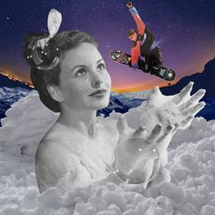 Snowbath. By. Cane La. Cut And Paste, Collage, Movies, Movie Posters, Inspiration, Art, Biblical Inspiration, Art Background, Collages