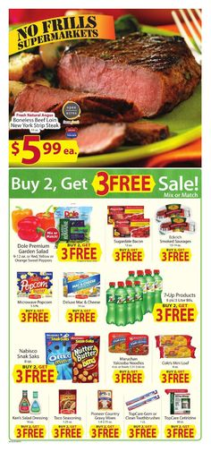 No Frills weekly ad. Do you know what's in and what's hot in the No Frills for this week? Here are No Frills ad Strip Steak, Weekly Ads, No Frills, November, Beef, Fresh, Food, November Born, Meat