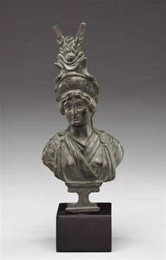 Roman -  Bust of an Empress as Isis.        Early 1st century A.D.  -         The Detroit Institute of Arts.    http://amica.davidrumsey.com