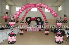 Balloon/Minnie mouse columns arch