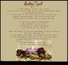 Healing spell...