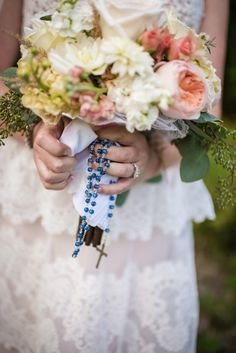 Wedding bouquet rosary