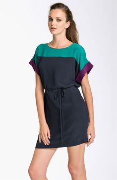 French Connection Colorblock Silk Shift Dress available at #Nordstrom