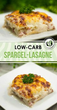 The asparagus lasagna is a delicious low-carb recipe. The special thing is that the pasta plates are without white flour. The asparagus lasagna is a delicious low-carb recipe. The special thing is that the pasta plates are without white flour. Classic Lasagna Recipe, Easy Lasagna Recipe, Lasagna Recipes, Easy Low Carb Lunches, Easy Meals, Cena Paleo, Law Carb, Keto, Asparagus Recipe