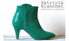 Patricia Blanchet ankle boots Reno verte #patriciablanchet #boots #vert #green #lowboots #cuir #serpent #reno #bottines #chaussures #shoes #ss15
