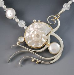 Jewelry Making Shells fine art jewelry made from sea urchins and shells Sea Jewelry, Silver Jewelry Box, Seashell Jewelry, Jewelry Art, Sterling Silver Jewelry, Jewelry Design, Silver Ring, Jewelry Quotes, Silver Bracelets